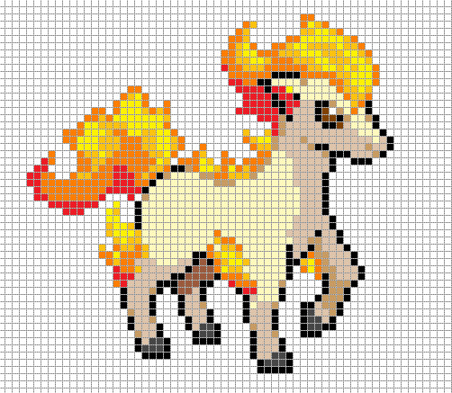 Minecraft Pokemon Pixel Art Grid Ponyta Pixel Art Grid by Hama Girlviantart On