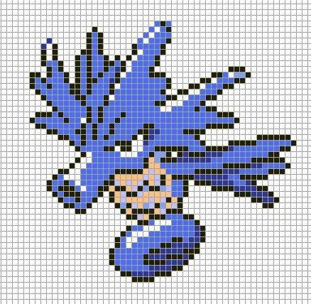 Minecraft Pokemon Pixel Art Grid Sandylandya Outlook Seadra by Hama Girl
