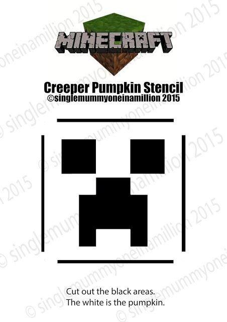 Minecraft Pumpkin Stencils Minecraft Creeper Pumpkin Stencil