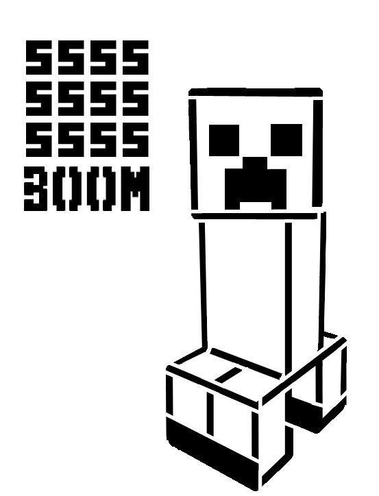 Minecraft Pumpkin Stencils Minecraft Creeper Stencil with Ssss