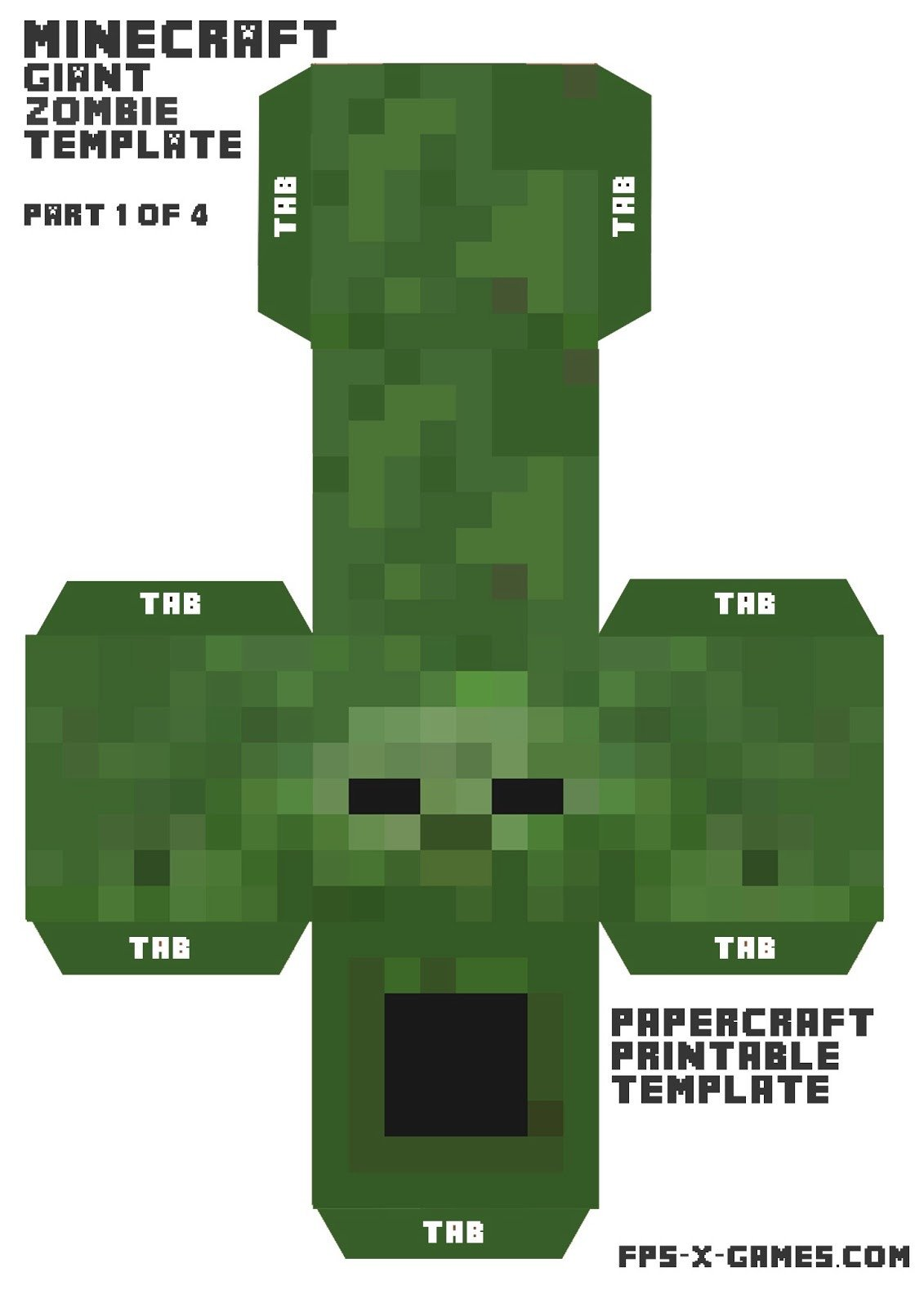 Minecraft Zombie Template 1000 Images About Party Ideas On Pinterest