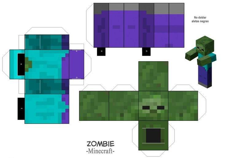 Minecraft Zombie Template Zombie Minecraft by Pepinillo87 On Deviantart