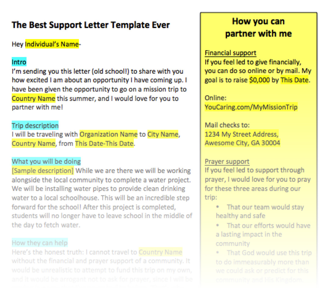 Ministry Support Letter Template the Best Support Letter Template Ever Seriously