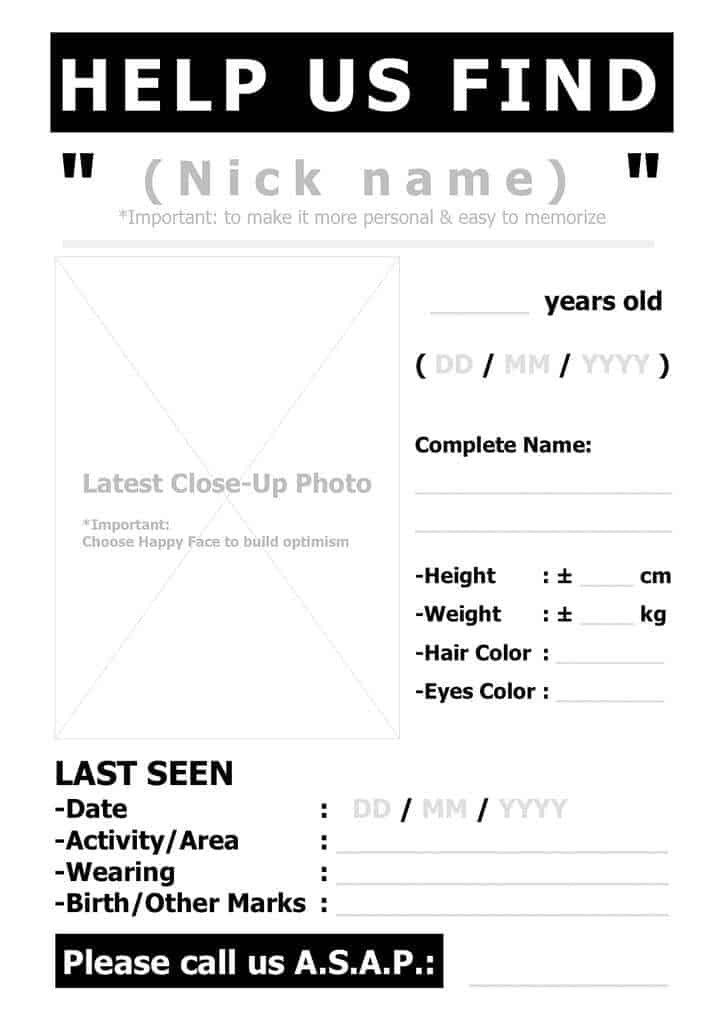 Missing Person Flyer Template top 5 Resources to Get Free Missing Person Poster
