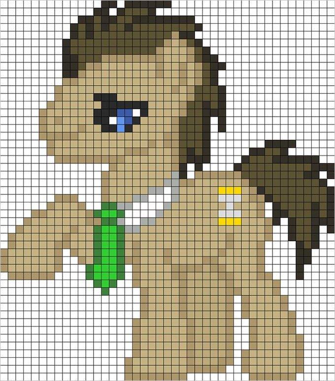 Mlp Pixel Art Template 30 Pixel Art Templates