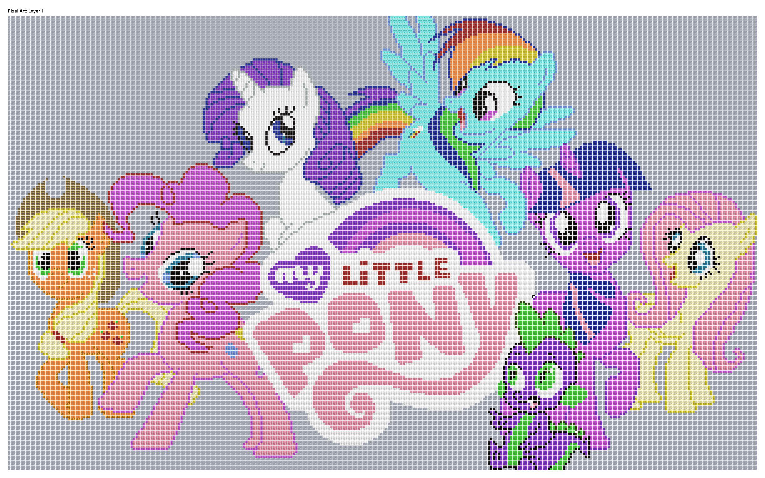 Mlp Pixel Art Template for Minecraft Pixel Art Templates My Little Pony