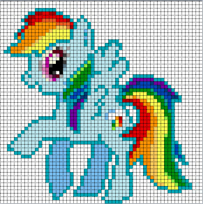 Mlp Pixel Art Template Pix for My Little Pony Pixel Art Templates Fluttershy