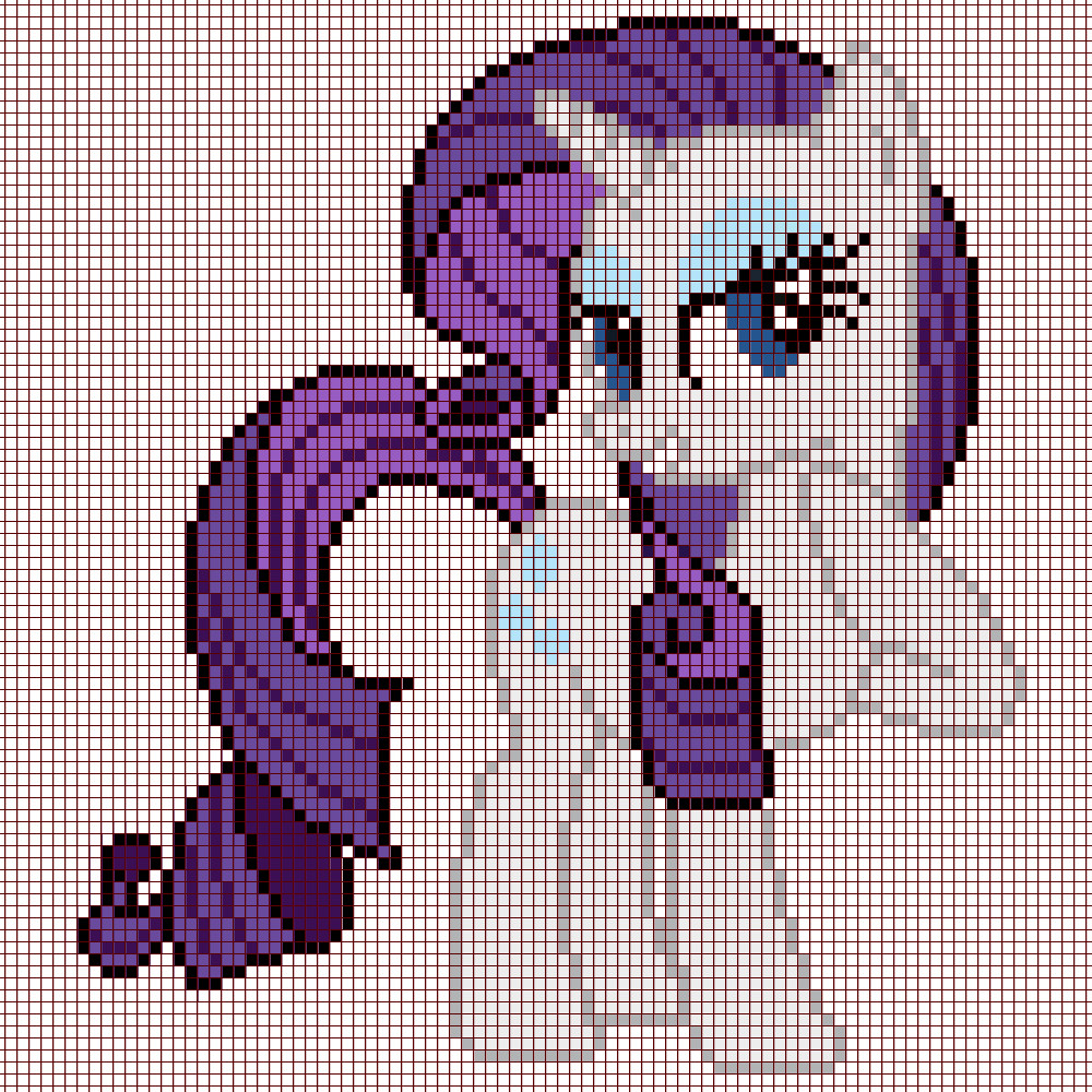 Mlp Pixel Art Template Pixel Art Of Rarity Template by Captainpineapple96 On