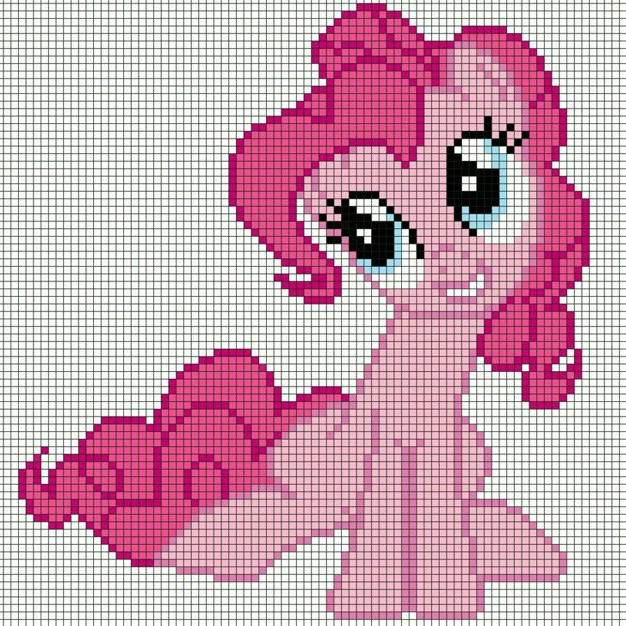 Mlp Pixel Art Template Pixel Art Pinkie Pie Template by Captainpineapple96 On