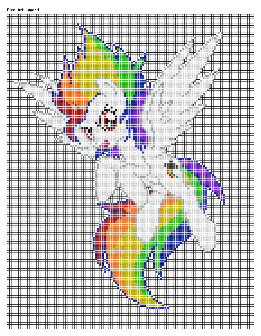 Mlp Pixel Art Template Super Rainbow Dash Pixel Art Design for Mc by Xxchippy13xx