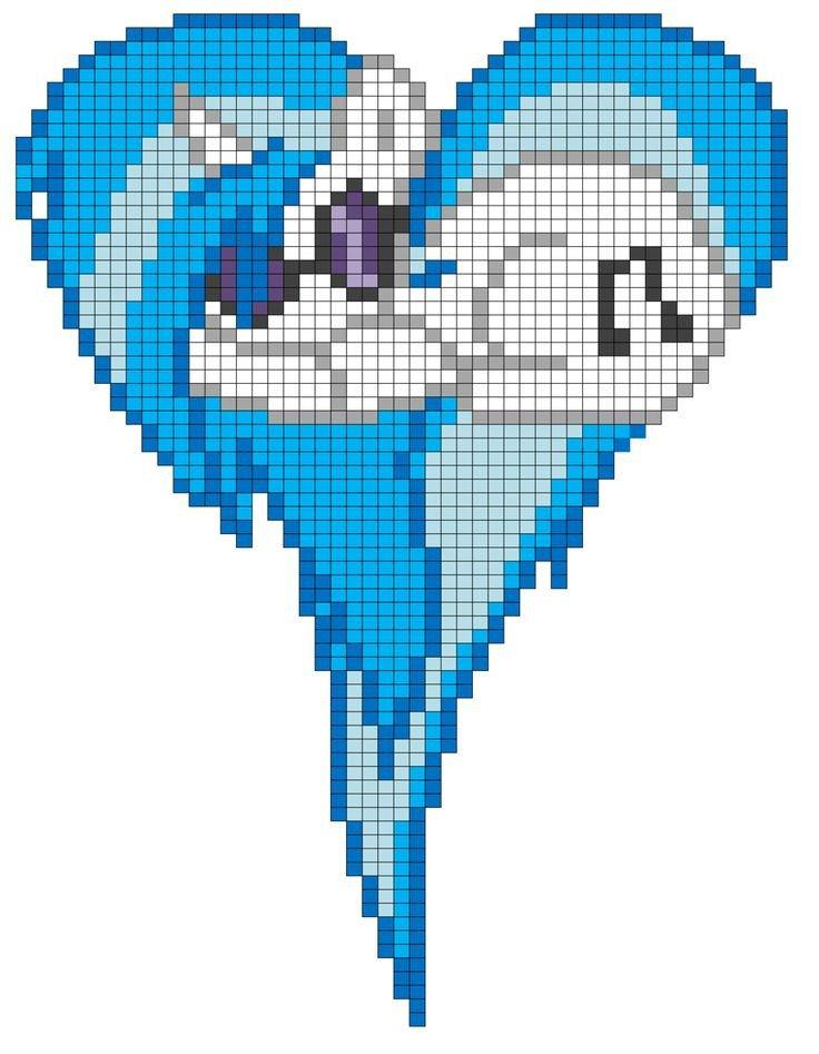 Mlp Pixel Art Template Vinyl Scratch Heart Pixel Art Template by Mlp