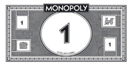 Monopoly Money Black and White End the Fiat Monopoly toilet Paper Ponzi Scam