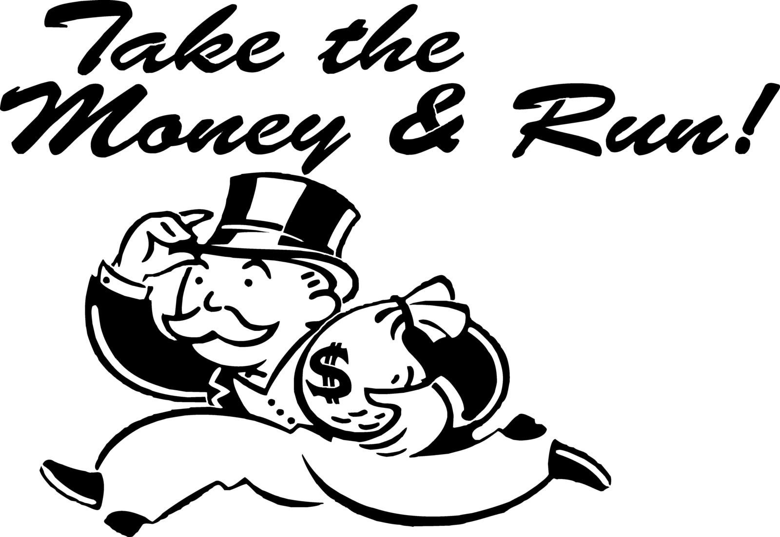 Monopoly Money Black and White Money Bags Drawing at Getdrawings