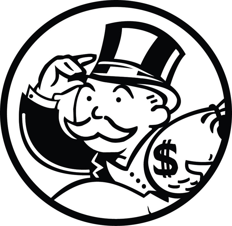 Monopoly Money Black and White Monopoly Man by Vectorius1 On Deviantart