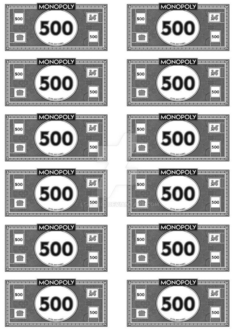 Monopoly Money Black and White Monopoly Money 500 S by Leighboi On Deviantart