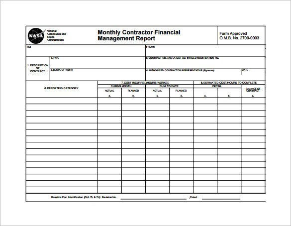 Monthly Financial Report Template 22 Sample Monthly Management Report Templates Word