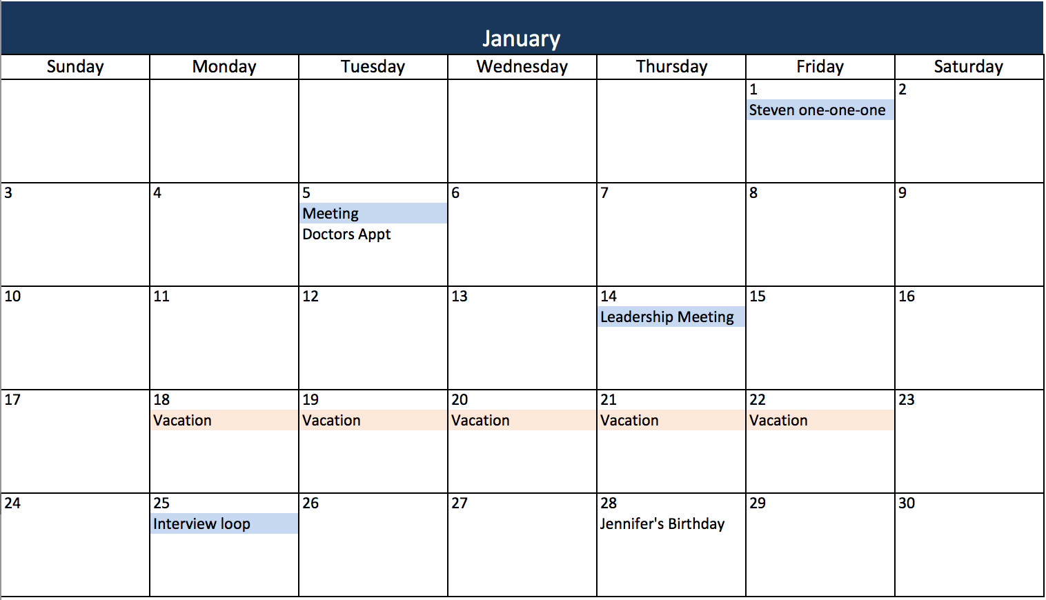 Monthly Schedule Template Excel Make A 2018 Calendar In Excel Includes Free Template