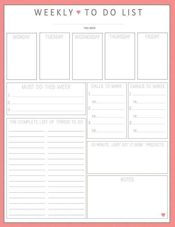 Monthly to Do List Template Pinterest • the World's Catalog Of Ideas