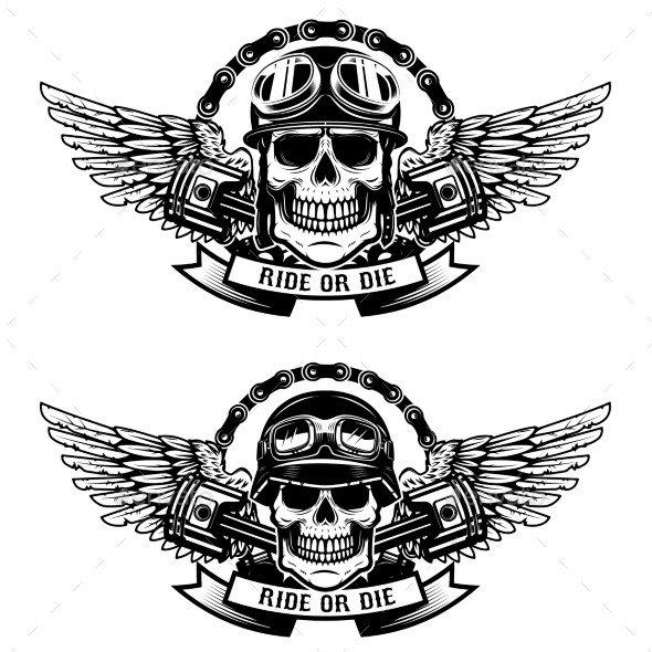Motorcycle Club Patch Template Photoshop Animasi Bergerak Cafe Racer Tinkytyler Stock