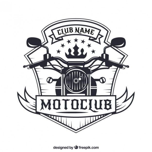 Motorcycle Club Patch Template Photoshop Emblema Da Motocicleta 03 Games