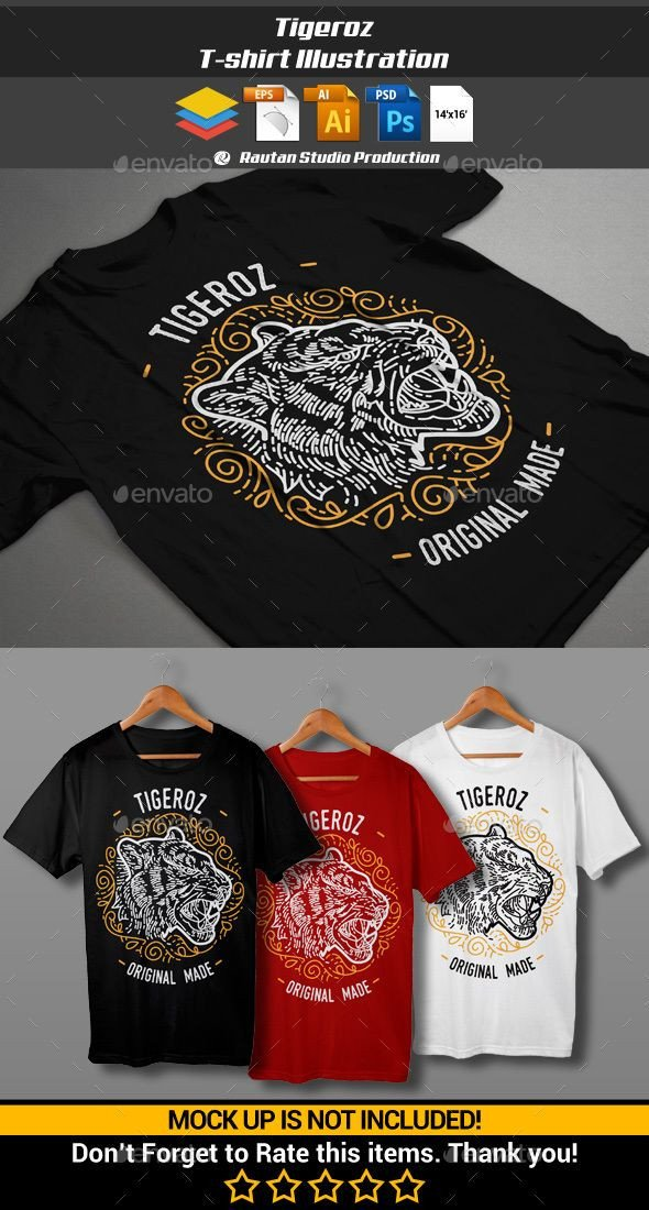 Motorcycle Club Patch Template Photoshop Tigeroz T Shirt Illustration Vector Eps Shop Psd