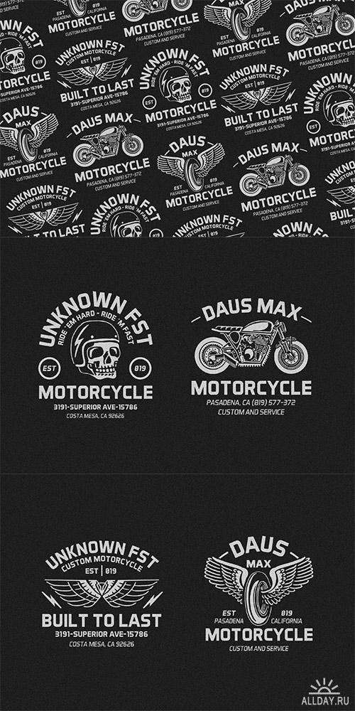 Motorcycle Club Patch Template Photoshop Vector Motorcycle Badges Logo Allday народный сайт о