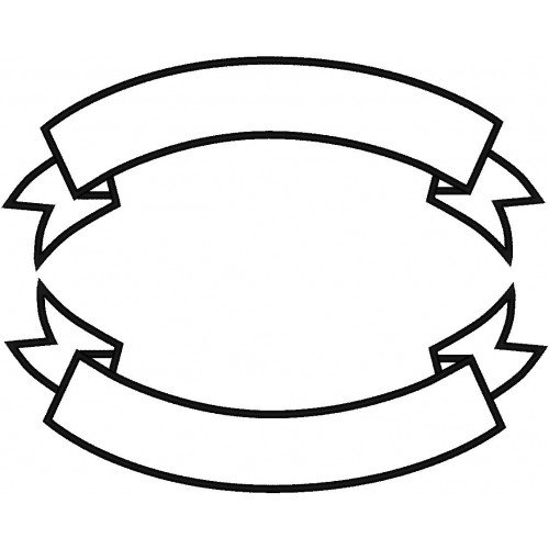 Motorcycle Patch Template Banner Rocker