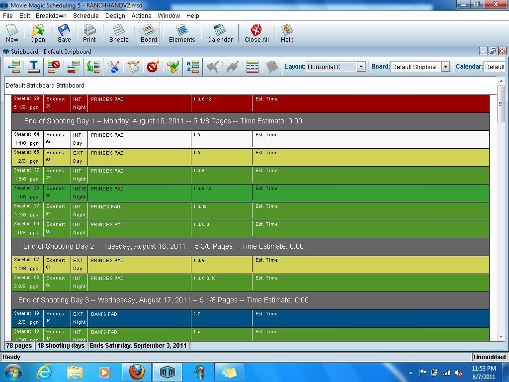 Movie Magic Scheduling Template Movie Magic Scheduling software by Entertainment Partners