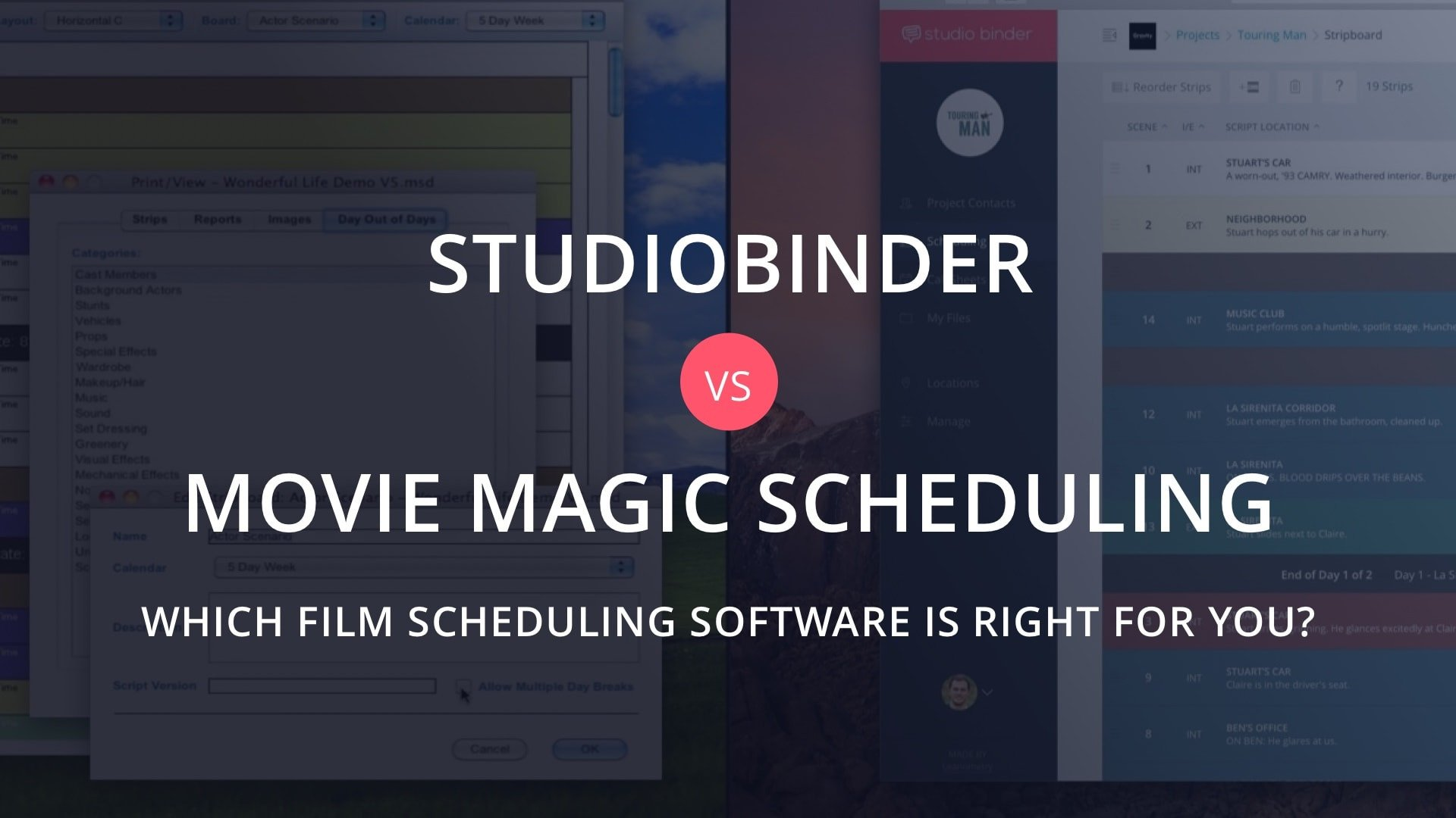 Movie Magic Scheduling Template the Best Alternative to Movie Magic Scheduling
