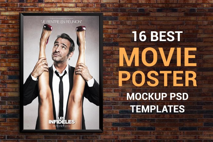 Movie Poster Template Psd 16 Movie Poster Mockup Psd Templates Free & Premium