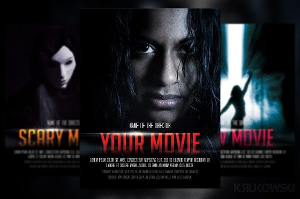 Movie Poster Template Psd Banner Templates – 22 Pdf Psd Vector Documents