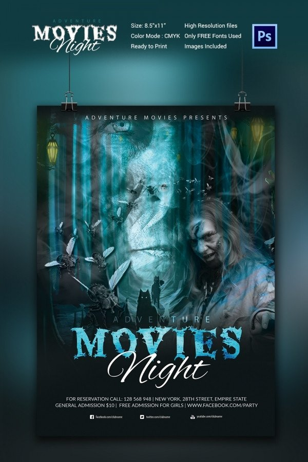 Movie Poster Template Psd Movie Poster Templates – 44 Free Psd format Download
