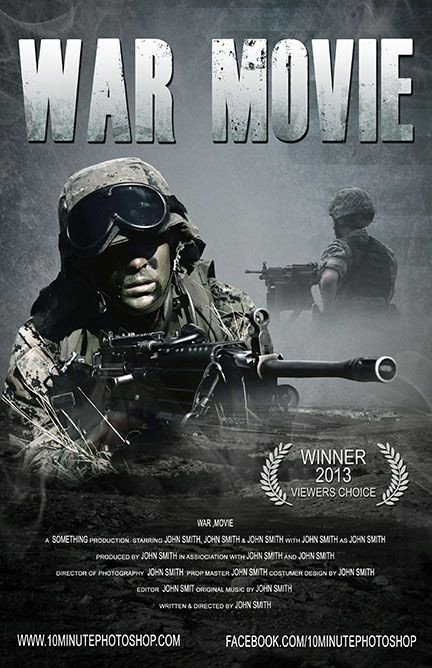 Movie Poster Template Psd War Movie Poster Template Psd