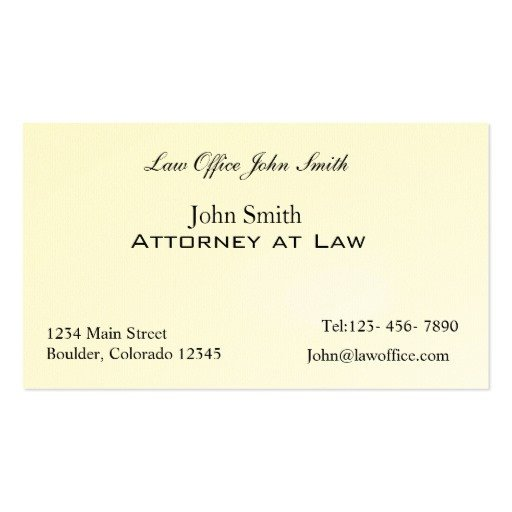 Ms Office Business Card Templates attorney at Law Office Double Sided Standard Business