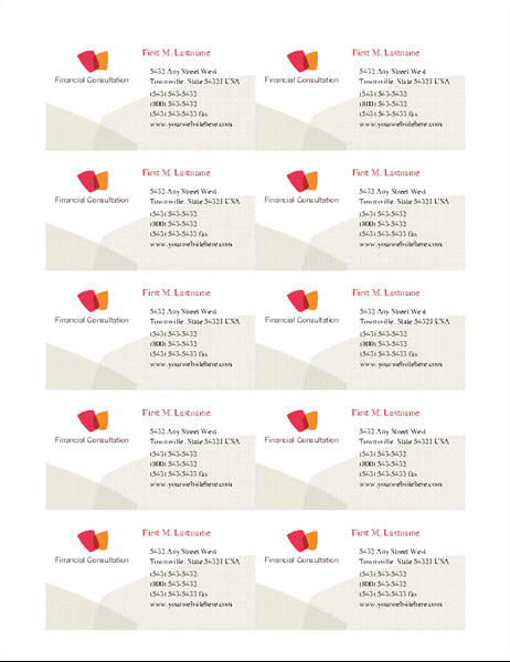 Ms Office Business Card Templates Business Cards Fice