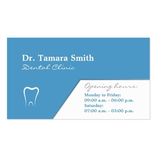 Ms Office Business Card Templates Dentist Dental Fice Business Card Template