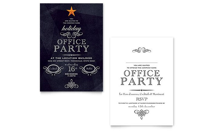 Ms Office Invitation Template Fice Holiday Party Invitation Template Word & Publisher