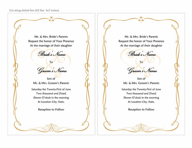 Ms Word Invitation Template Microsoft Word 2013 Wedding Invitation Templates