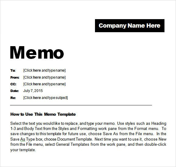 Sample Confidential Memo 8 Documents in PDF Word