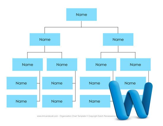 Free Business Organizational Chart Templates for Word and