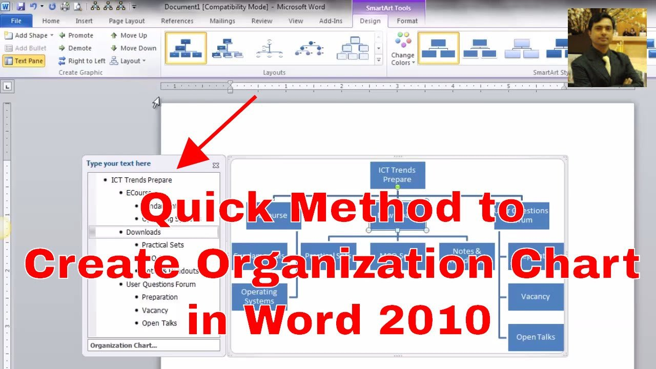 Ms Word org Chart Templates How to Make An organizational Chart Creating