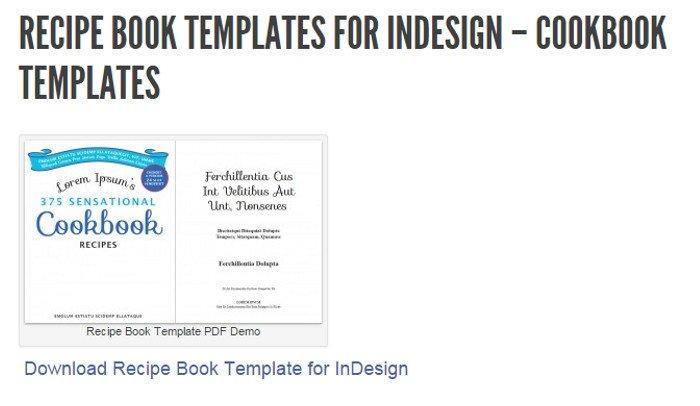 Ms Word Recipe Template 5 Indesign Cookbook Template
