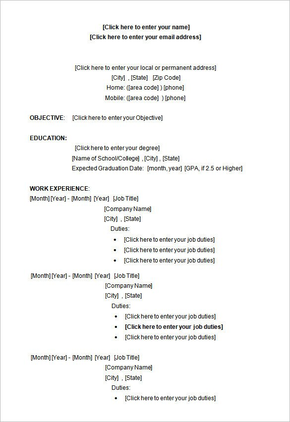Ms Word Resume Template Download 34 Microsoft Resume Templates Doc Pdf