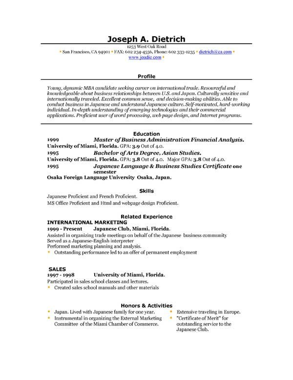 Ms Word Resume Template Download Free Resume Template Downloads