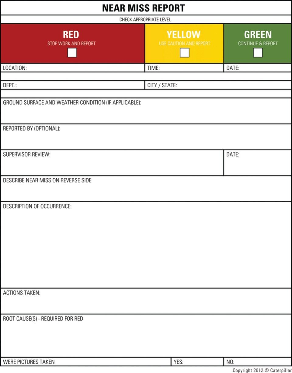 Near Miss Reporting Template How to Improve Jobsite Safety by Getting Workers to Report