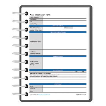 Near Miss Reporting Template Near Miss Report form Template Free