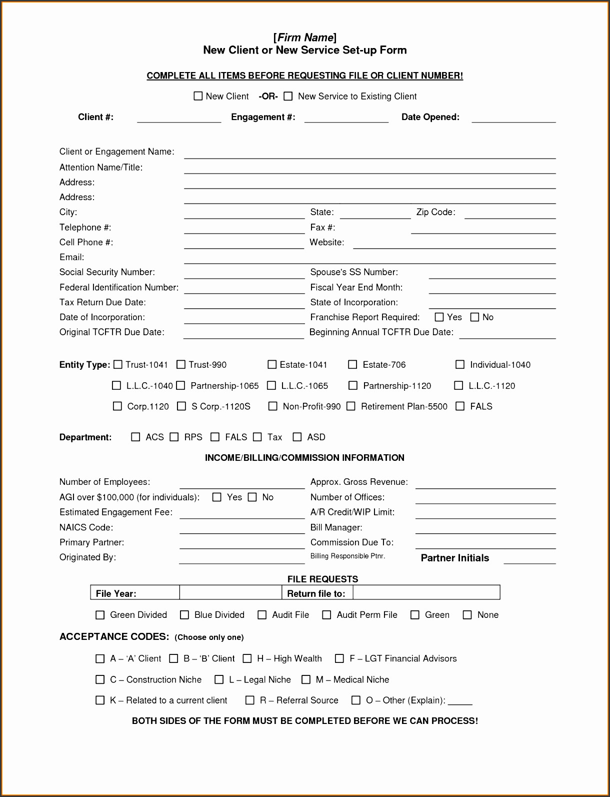 New Client form Template 6 Client Information Sheet Templates Sampletemplatess