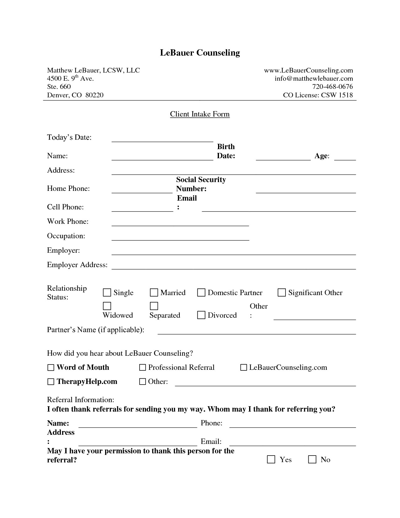 New Client form Template New Client Intake form Template Fogiid Clipart Kid