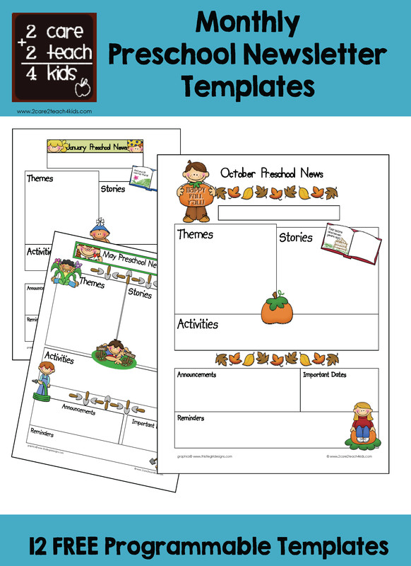 Newsletter Templates for Preschool Preschool Newsletters Free Printable Templates
