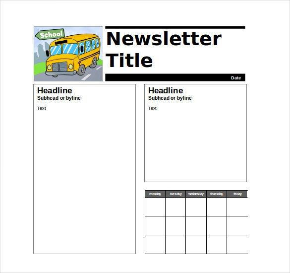 Newsletter Templates for Teachers 9 Teacher Newsletter Templates – Free Sample Example